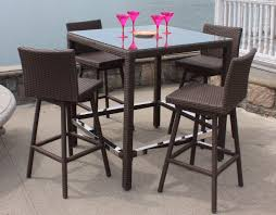 Outdoor Wicker Swivel Chair Patio Wicker Swivel Bar Set Sonoma