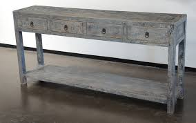 Painted Console Table Reclaimed Wood Painted Console Table With Drawers Na012