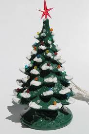 retro ceramic tree lighted electric tabletop tree l