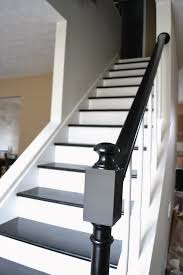 Painting A Banister Black Best 25 Black Painted Stairs Ideas On Pinterest Black Staircase