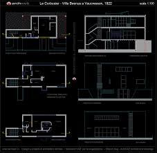 Autocad Floor Plan by Villa Besnus A Vaucresson France 1922 Le Corbusier Archweb