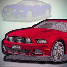 ford mustang patch large patch ford mustang iron on 16x7 7 13x6 5 10x5 inches