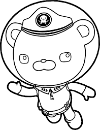 captain barnacles helmet underwater coloring page wecoloringpage