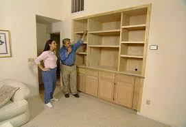 How To Install Built In Bookshelves by How To Make A Built In Entertainment Center U2022 Diy Projects U0026 Videos