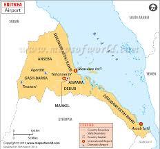 africa map eritrea airports in eritrea eritrea airports map