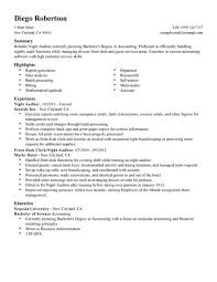 best night auditor resume example livecareer