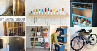 Wood Shelving Plans Garage by 35 Diy Garage Storage Ideas To Help You Reinvent Your Garage On A