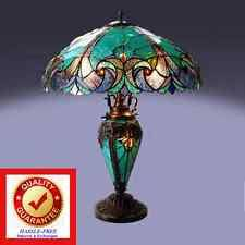 brass stained glass table lamps ebay