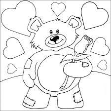 teddy coloring