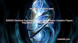 ee6352 electrical engineering and instrumentation question papers