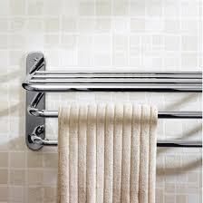 Glass Bathroom Shelf With Towel Bar Delta Cassidy 18 In Glass Bathroom Shelf With Towel Bar In Chrome