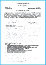 Automotive Service Advisor Resume Cover Letter For Customer Service Manager Cover Letter