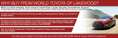 toyota center near me toyota world of lakewood shop new u0026 used cars for sale