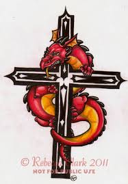 cool crucifix 55 dragon cross tattoos designs and pictures