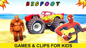 monster truck games videos for kids shutterstock stock bigfoot monster truck cartoon vector