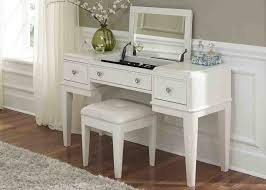 Vanity Set With Lights For Bedroom Bedroom Ivory Stained Oak Wood Storage Dressing Table With Lights