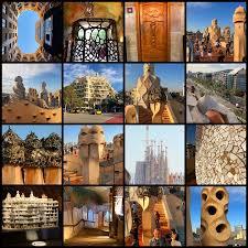 montage of images from casa milà casa mila la pedrera barcelona