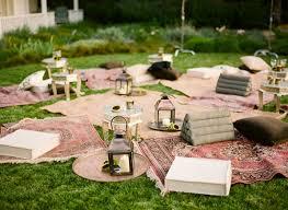 Wedding Garden Decor Decorated Going Rustic Ojai Garden Wedding Once Wed