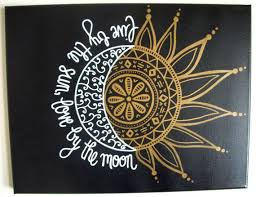 11 14 custom painted canvas live by the sun by the moon