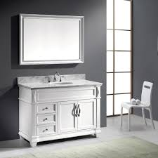 virtu usa victoria 48 single bathroom vanity set in white