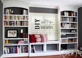 Building Wooden Bookshelves by Diy Built In Bookshelves Organization Ideas Room And Organizations