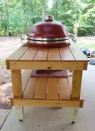 kamado joe grill table plans my new big joe and table do it yourself kamado guru