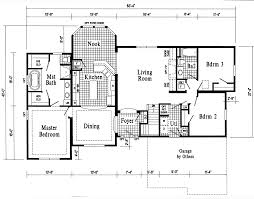 ranch house floor plans with bat
