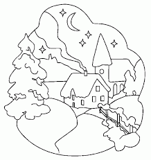 printable winter scene coloring pages kids coloring
