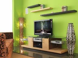 living led tv showcase in green wall modern lcd tv showcase