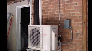 Wall Mount Heat And Air Unit Fujitsu Ductless Ac Outdoor U0026 Indoor Unit Youtube