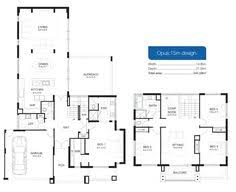 Double Storey House Floor Plans Beauteous Double Storey House Plans House07 Doublestory Hampton42