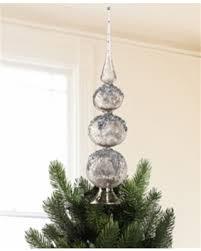 christmas tree topper tis the season for savings on silver blown glass finial christmas