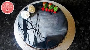 nutella u0026 strawberry cheesecake with mirror glaze black magic