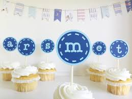 monogram cupcake toppers monogram initial letter cupcake toppers alphabet boy blue birthday