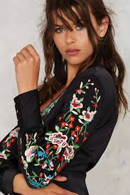 gal jumpsuit gal come up roses embroidered jumpsuit shop clothes at