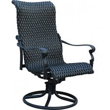 High Back Sling Patio Chairs High Back Swivel Rocker Patio Chairs Dining Area For Outdoor