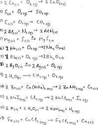balancing equations worksheet part 1 balancing equations