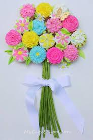 How To Make Wedding Bouquets Bouquet Of Cupcakes Tutorial Mycakeschool Com My Cake