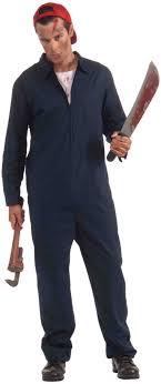 janitor jumpsuit s mens deranged mechanic jumpsuit costume plus size x large