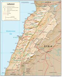 Lebanon On World Map by