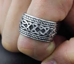 titanium wedding band reviews mens celtic titanium wedding ring engagement band blue 8