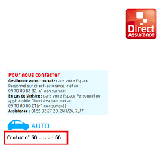 bureau direct assurance où trouver votre numéro de contrat consulter modifier un