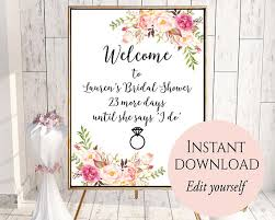 Bridal Shower Signs Welcome Sign Template Welcome Bridal Shower Sign Bridal
