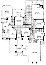 baby nursery mission style house plans with courtyard mission