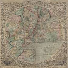 Old Map New York City by File 1848 Colton Map Of New York City And Vicinity 33 Miles