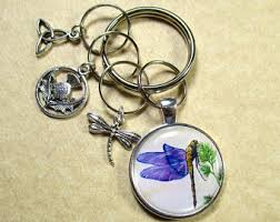 unique dragonfly gifts dragonfly keyring etsy