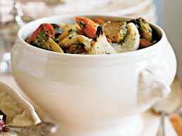 Recipe For Roasted Root Vegetables - roasted root vegetables with walnut pesto recipe myrecipes