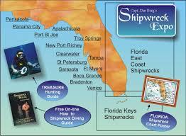 florida shipwrecks map the florida coast shipwreck expo capt dan berg s guide to