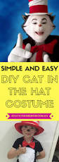 Cat In The Hat Costume Simple And Easy Diy Cat In The Hat Costume Stay At Home Mum