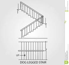 Top View Front View Dog Legged Stair Staircase 58429937 Jpg 1384